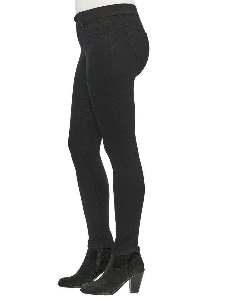 "Load image into Gallery viewer, Stretch Black Denim ""Ab""solution® Booty Lift Jegging"