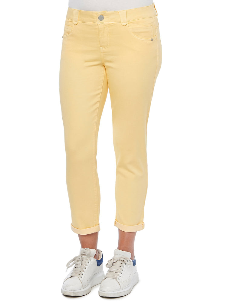 Abtechnology Ankle Skimmer Honey Butter Soft Yellow Ankle Length Stretch Colored Jeggings