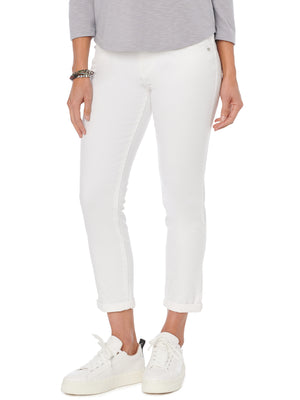 "Load image into Gallery viewer, ""Ab""solution Stretch Denim Optic White Ankle Skimmer Ankle Length Jegging Skinny Jeans"