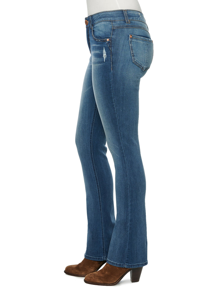 """Ab""solution Itty Bitty Boot Blue Tall Jeans 34"" Inseam"