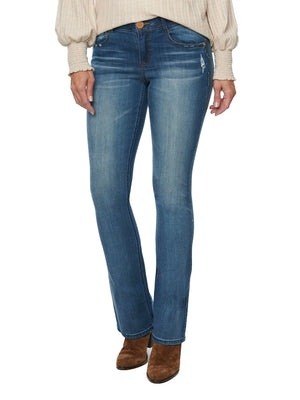 """Ab""solution Premium Stretch Luxe Touch Blue Denim Itty Bitty Boot Leg Bootcut Jeans"