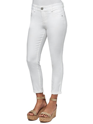 "Load image into Gallery viewer, ""Ab""solution Ankle Length Stretch Optic White Denim Jegging Skinny Jeans Ankle Skimmer"