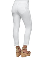 """Ab""solution Ankle Length White Jeans"