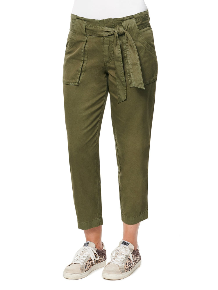 High Rise Self Tie Soft Pant