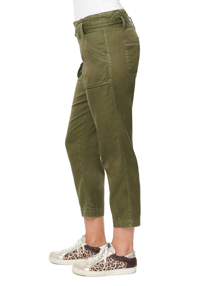 High Rise Self Tie Soft Utility Pant