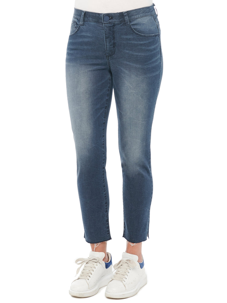 "Load image into Gallery viewer, ""Ab""solution High Rise Artisanal Indigo Vintage Skinny Jeans"