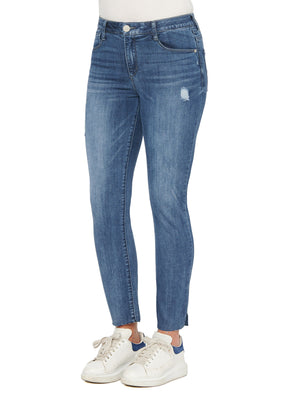 """Ab""solution High Rise Vintage Skinny Blue Jeans"