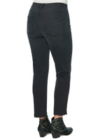 """Ab""solution High Rise Raw Hem Skinny Black Jeans"