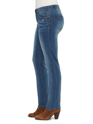 "Load image into Gallery viewer, Stretch Denim Medium Wash ""Ab""solution® Straight Leg Jean"