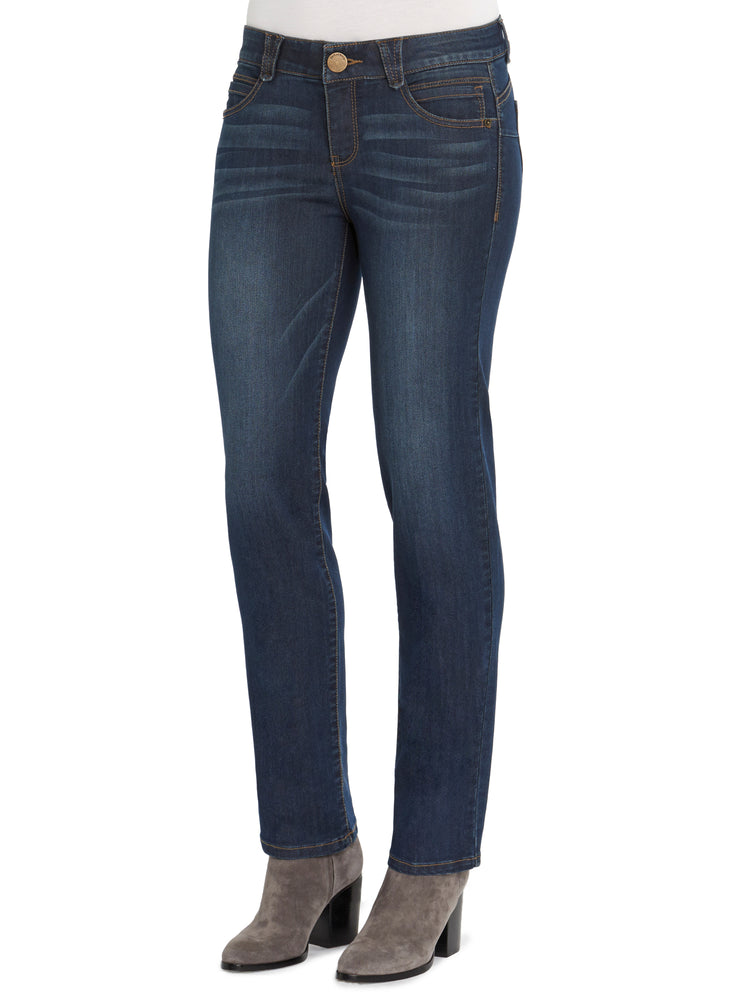 """Ab""solution Straight Leg Indigo Petite Jeans"