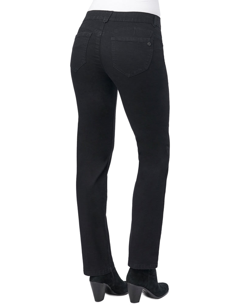 "Stretch Black Denim ""Ab""solution® Straight Leg Jean"