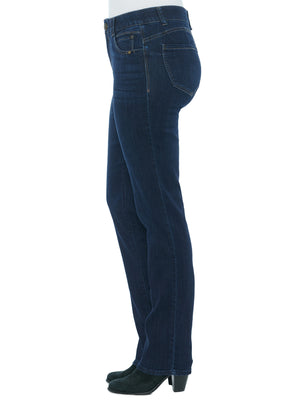 """Ab""solution Indigo Denim Straight Leg Long Inseam Tall Jeans"