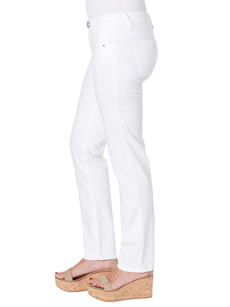 """Ab""solution Petite White Straight Leg Jeans"