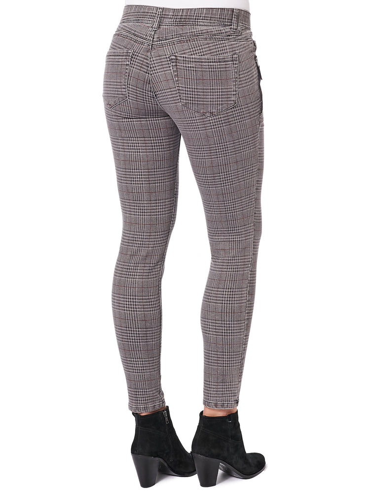 """Ab""solution Side Zip Checkered Jegging"