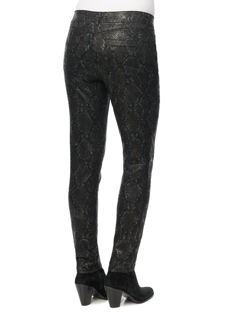 "Stretch ""Ab""solution® Side Zip Snake Print Jegging"