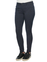 """Ab""solution Stretch Cotton Navy & Black Leopard Print Side Zip Jegging Skinny Jeans"