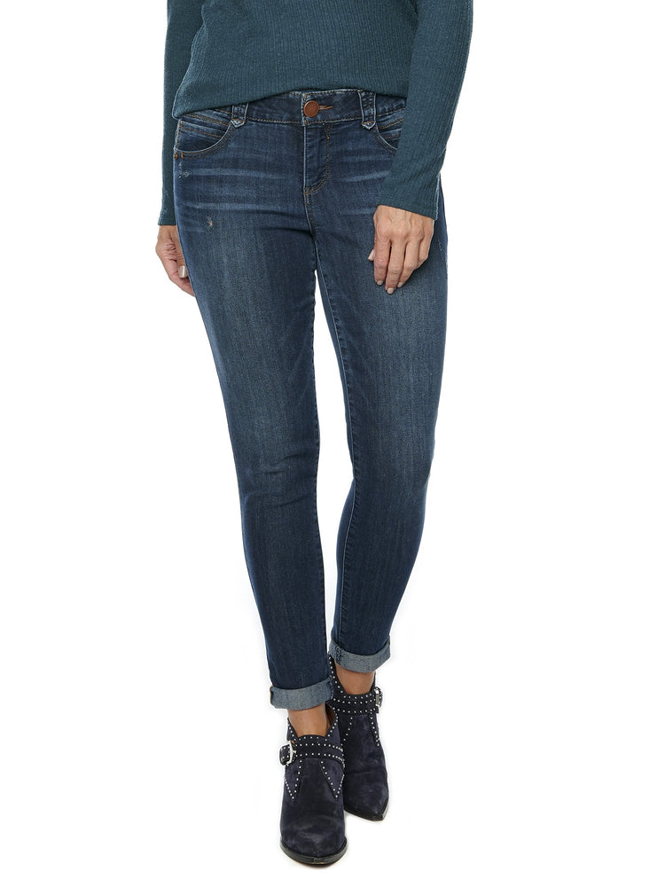 """Ab""solution Ankle Skimmer Indigo Petite Jeans"