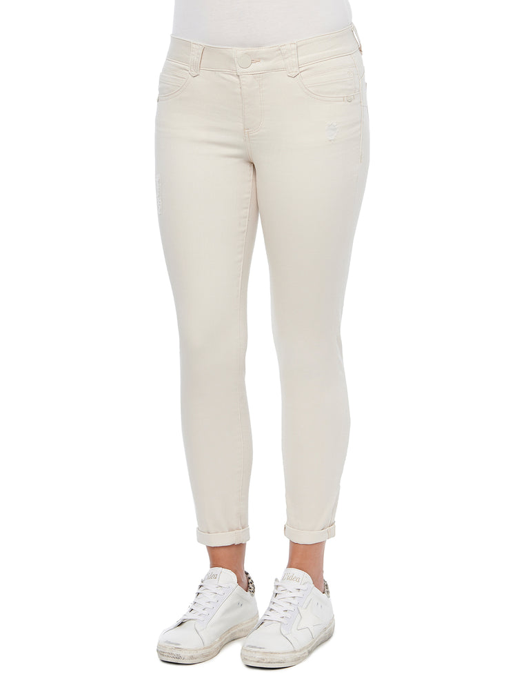 """Ab""solution Blanched Almond Ankle Skimmer Skinny Jeans"
