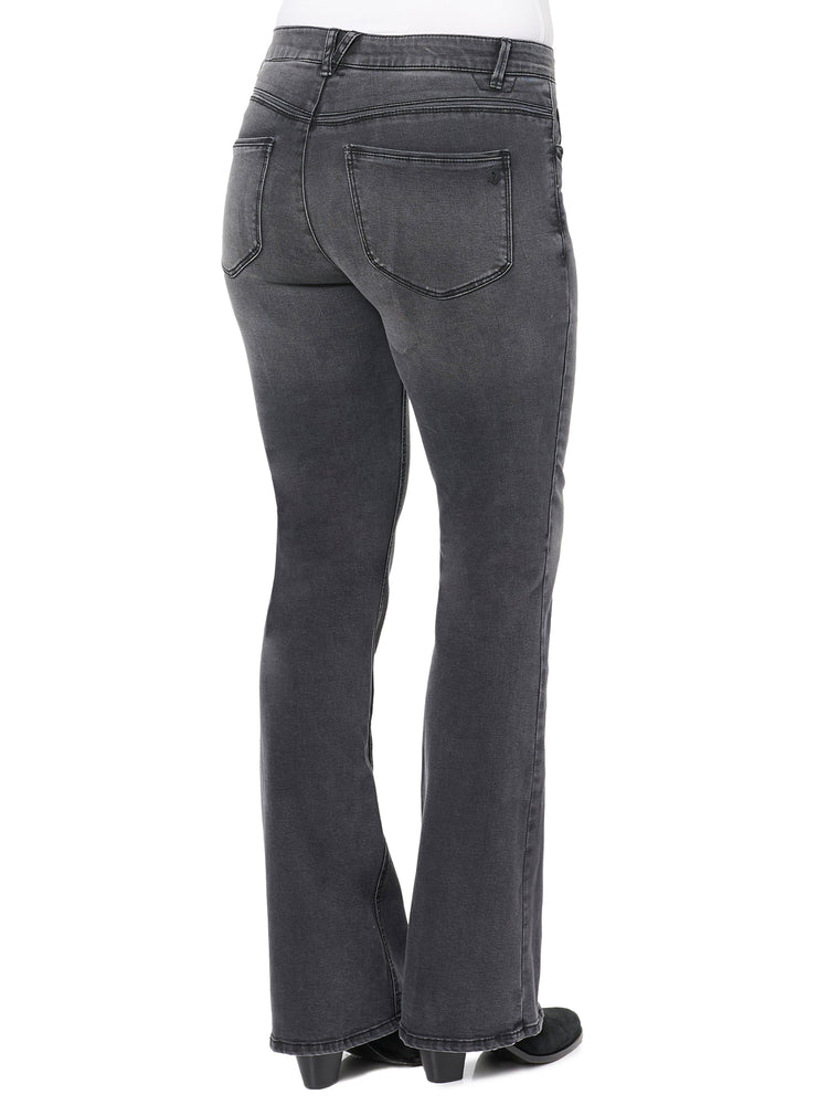 """Ab""solution High Rise Itty Bitty More Boot Black Jean"