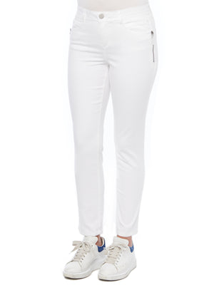 absolution side zip optic white stretch denim skinny jegging jeans