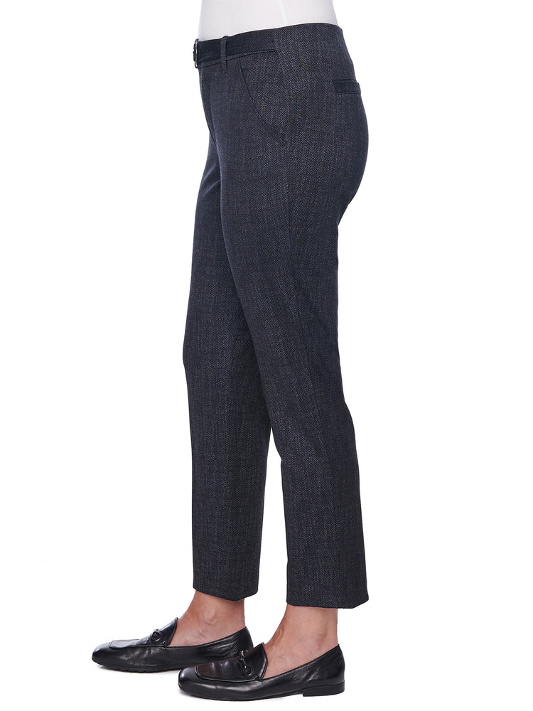 """Ab""solution High Rise D Ring Belt Midnight Blue Trouser"