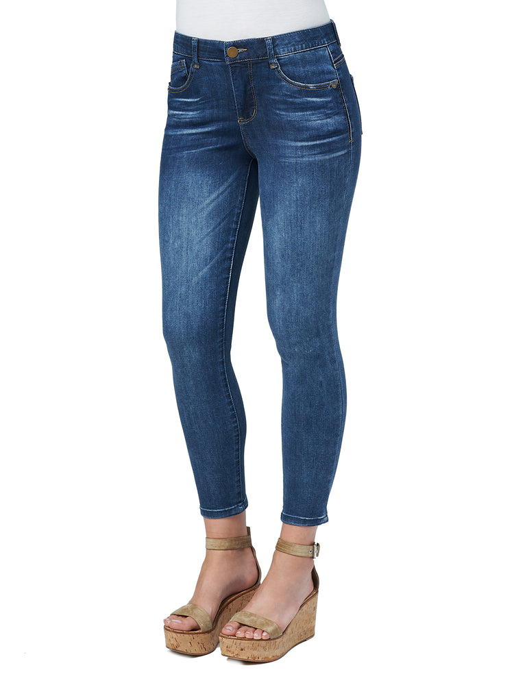 "Modern ""Ab""solution High Rise Ankle Length Blue Skinny Jeans"