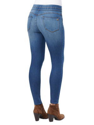 "Load image into Gallery viewer, ""Ab""solution® Glider Blue Jegging"