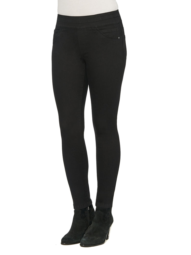 """Ab""solution Ankle Length Black Glider Jegging"