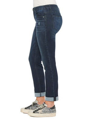 "Load image into Gallery viewer, Indigo ""Ab""solution® Cuffed Girlfriend Jean"