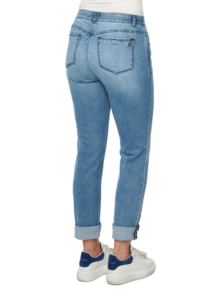 """Ab""solution Blue Denim Girlfriend Jean"
