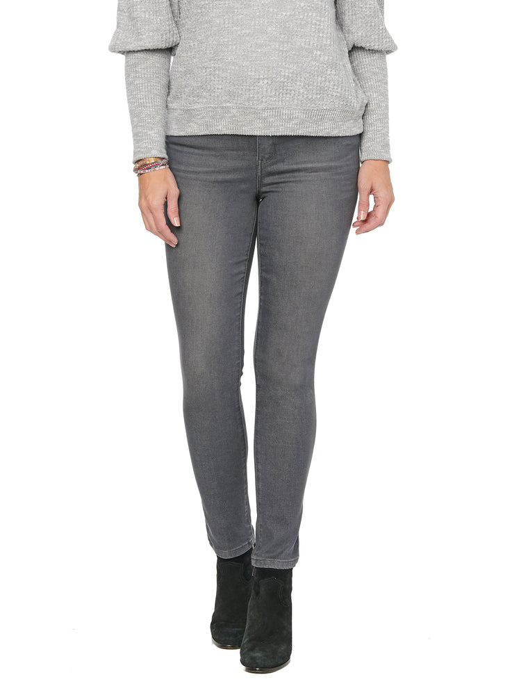 """Ab""solution High Rise Ankle Length Grey Jeans"
