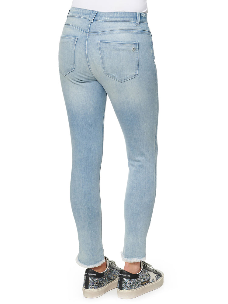"""Ab""solution High Rise Tulip Fray Hem Jean"