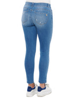 """Ab""solution Ankle Length Slim Fit Blue Jeans"