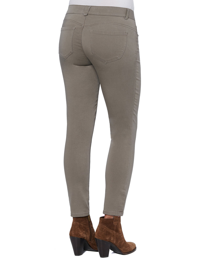 dark khaki colored jeans butt lifting jeggings