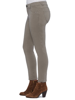 colored jeggings brindle olive beige