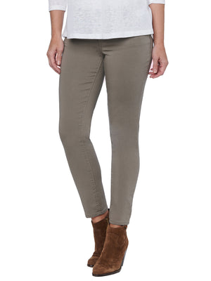 """Ab""solution Booty Lift Ankle Length Stretch Colored Jeggings Brindle Olive Beige Tan skinny jeans"
