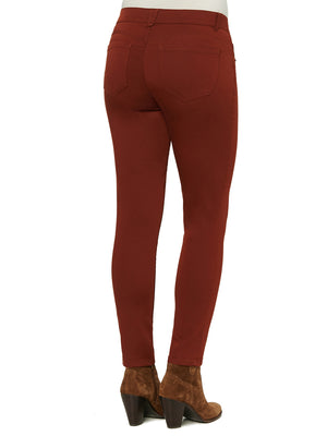 colored jeans butt lifting jeggings cayenne pepper burnt orange color jegging