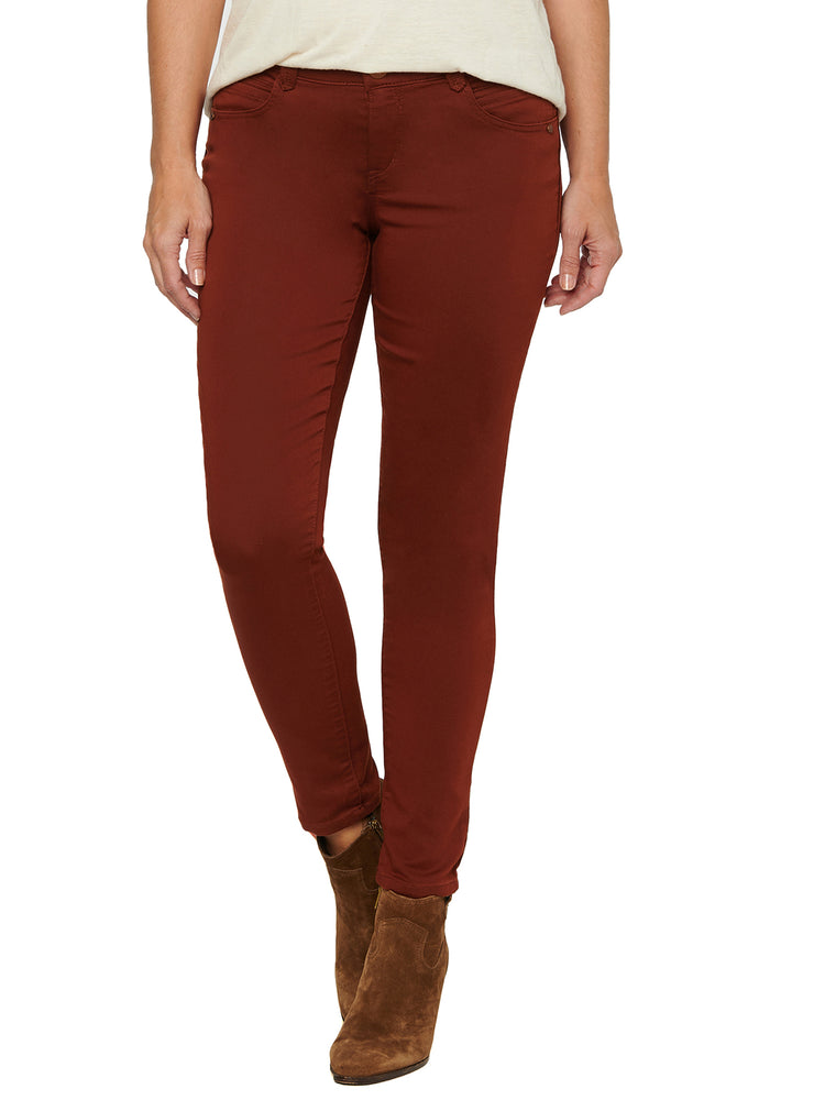 """Ab""solution Booty Lift Ankle Length Stretch Colored Jeggings Cayenne Pepper Rust Orange"