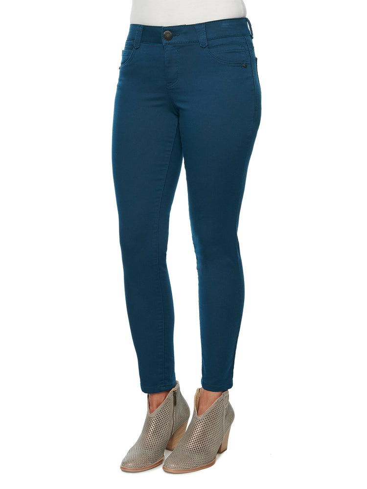 colored jegging dark teal