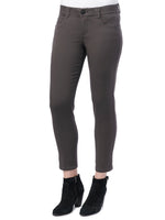 """Ab""solution Booty Lift Ankle Length Stretch Colored Jeggings  espresso brown"