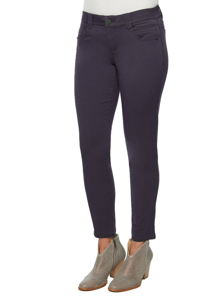 """Ab""solution Booty Lift Ankle Length Stretch Colored Jeggings malbec wine purple"