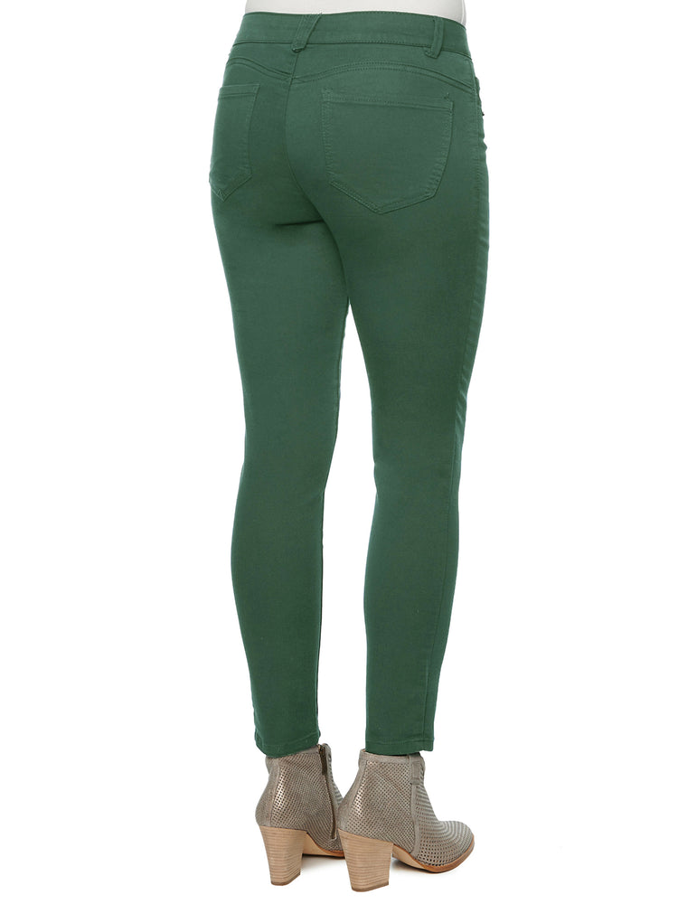 butt lifting jeggings tekking green dark olive colored jeans