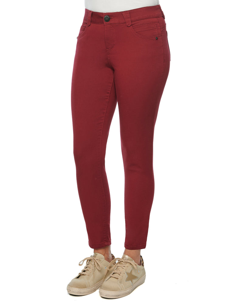 colored jeggings wine deep red