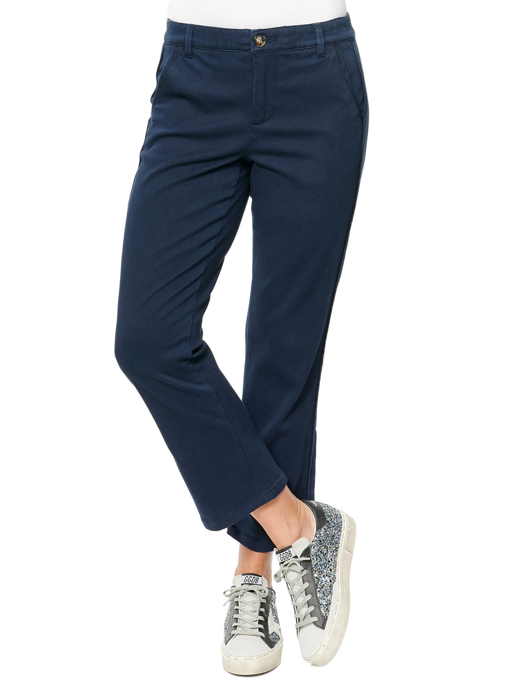 Absolution high rise stretch crop trouser navy
