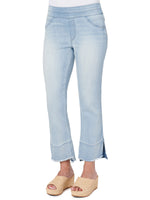 """Ab""solution Glider Pull-On Kick Flare Cropped Jeans"