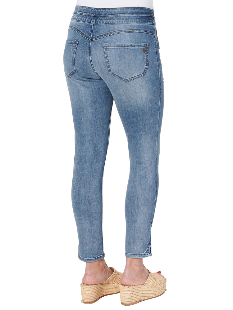 High Rise Pull-on Ankle Skimmer Glider Jegging Jeans