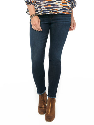 """Ab""solution High Rise Seamless Dark Indigo Luxe Touch Denim Ankle Skimmer Jeans"