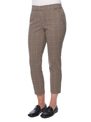 Load image into Gallery viewer, Camel & Black Plaid Pant Trouser