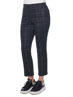 """Ab""solution High Rise Grey & Black Plaid Trouser"