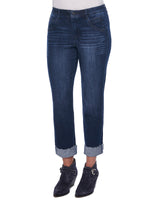 """Ab""solution Slim Straight Roll Cuff Girlfriend Jean"